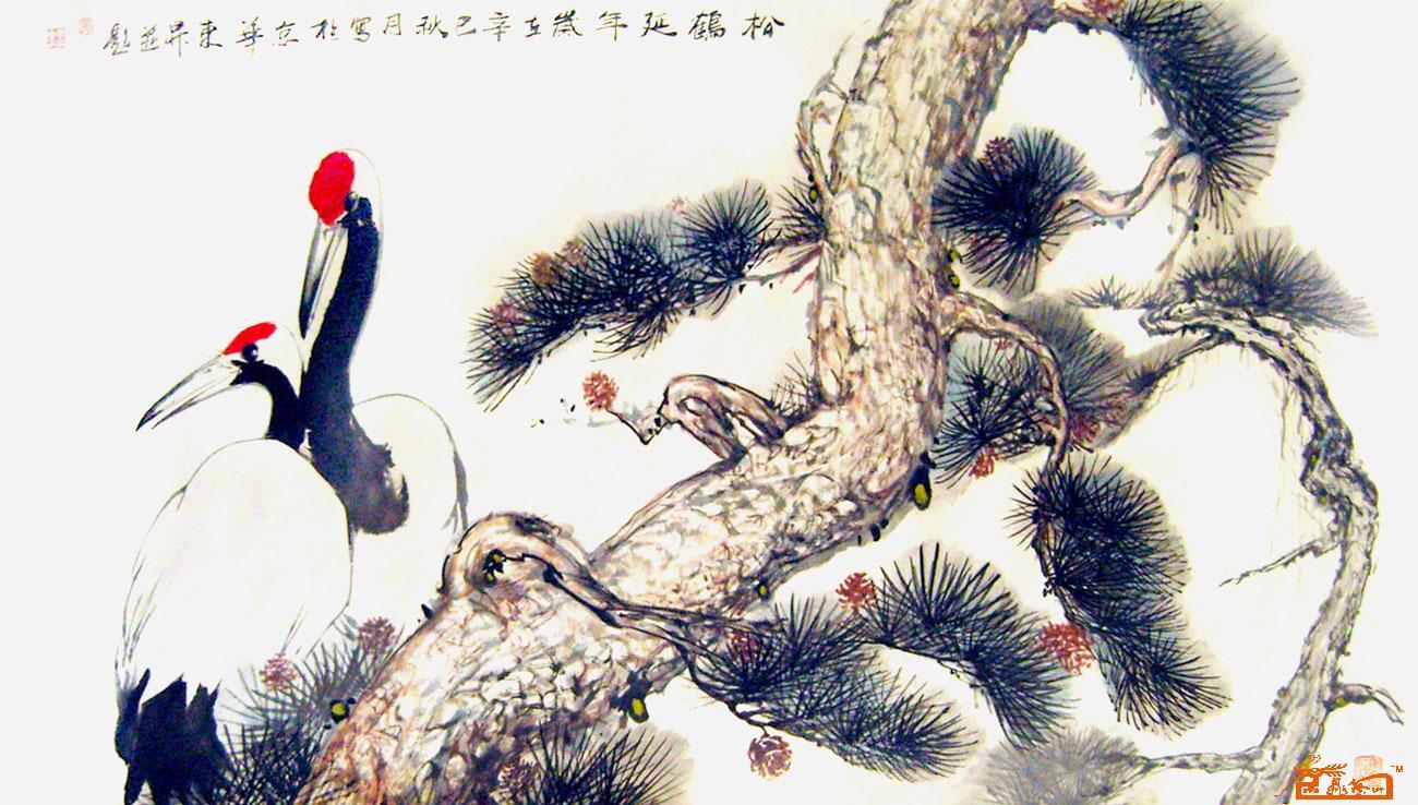 书法名家 张东升 - 国画 松鹤延年